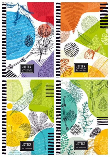 #Блокнот Мікро ембоссінг, формат 105х165 мм, 64 аркуша, дизайн - 18274-18277